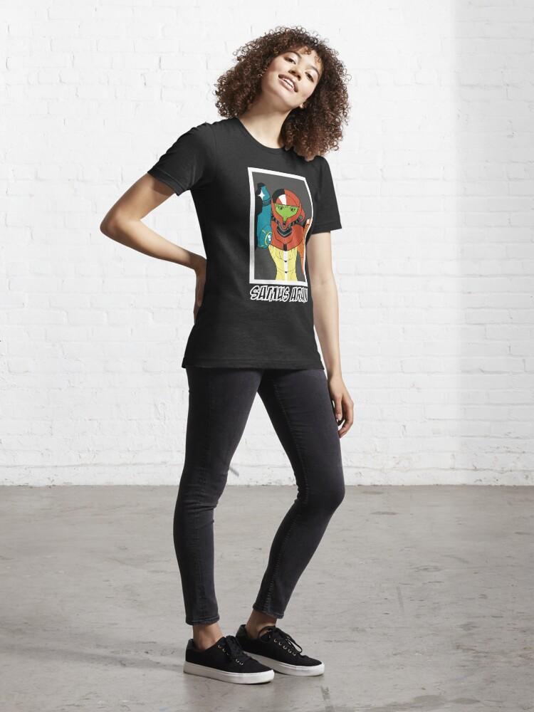 Alternate view of Samus Aran Metroid Essential T-Shirt
