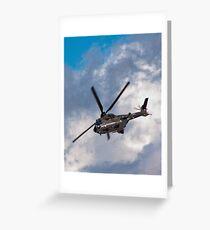 Swiss Air Force Super Puma Greeting Card