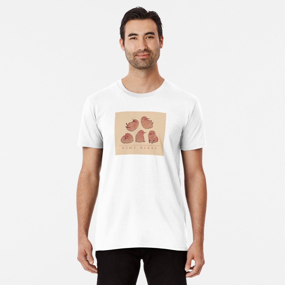 Cute Kiwi Birds 2 Premium T-Shirt