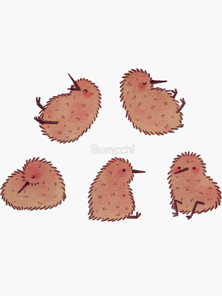Cute Kiwi Birds 2 by Bumcchi