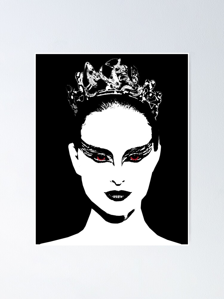 Black Swan 2010 Red Eyes Poster By Alanio Redbubble