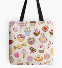 Seamless pattern with sweets Tote Bag