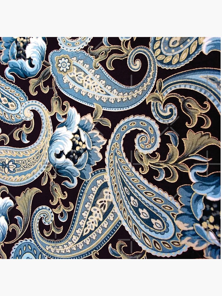 Blue Brown Vintage Paisley by GersonRamos