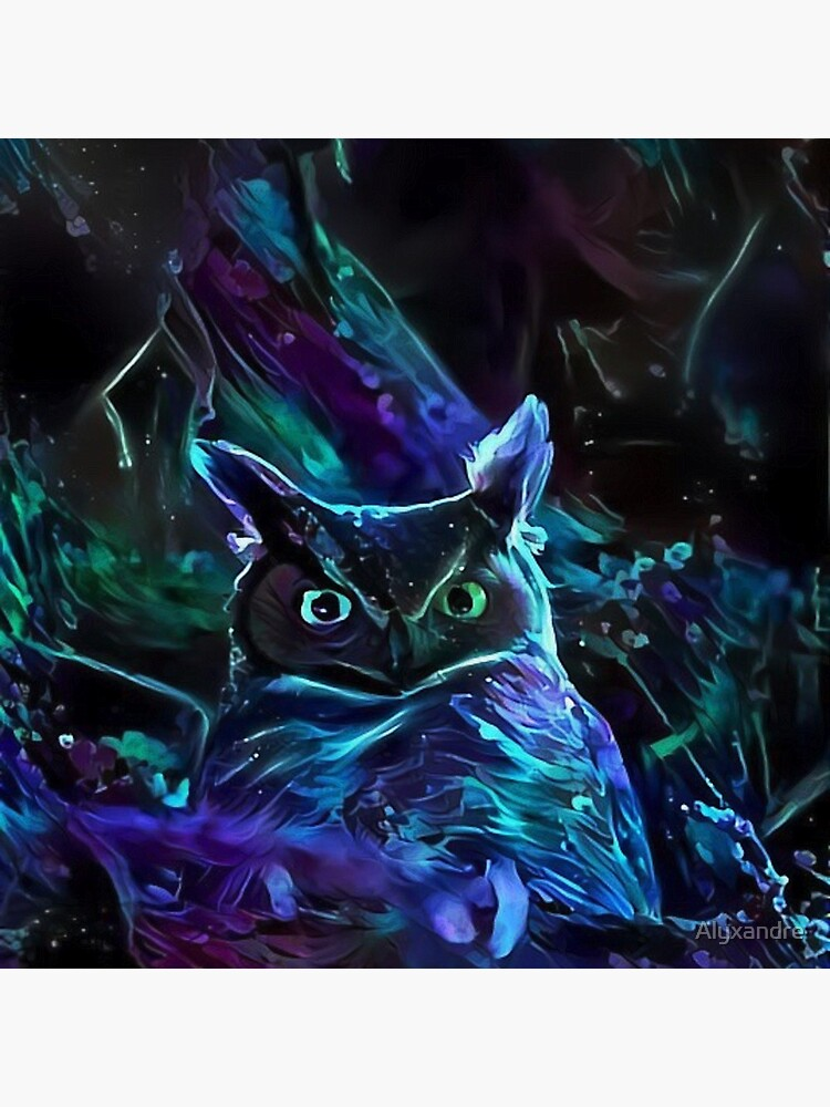 Blacklight Night Owl by Alyxandre