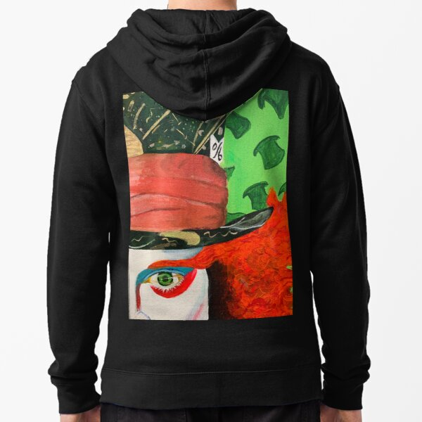 Alice in Wonderland- The Mad Hatter Zipped Hoodie