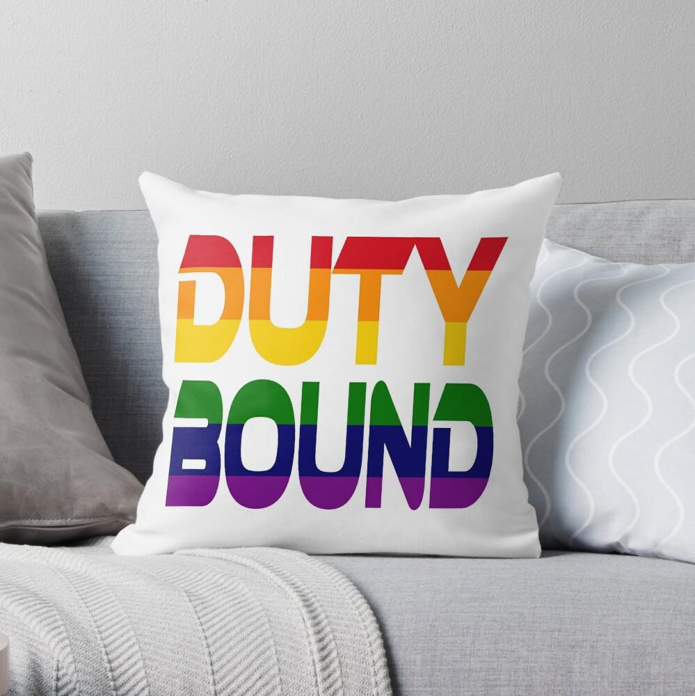 Duty Bound (Rainbow) Throw Pillow