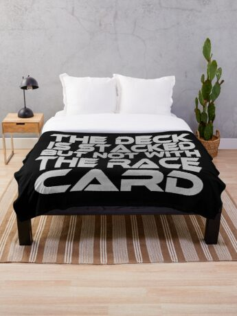 Stacked Deck (Race Card) Throw Blanket