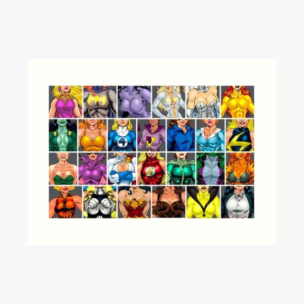 Superheroine ABC's Art Print