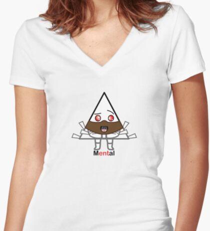 mENTal Women's Fitted V-Neck T-Shirt