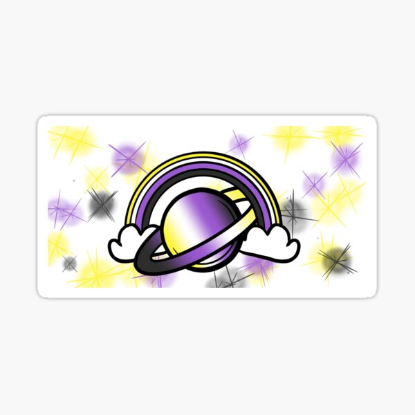 Space Queers: Non Binary Sticker