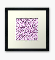 Romantic floral seamless pattern. Framed Print