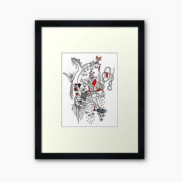 Intuitive Line Art Framed Art Print