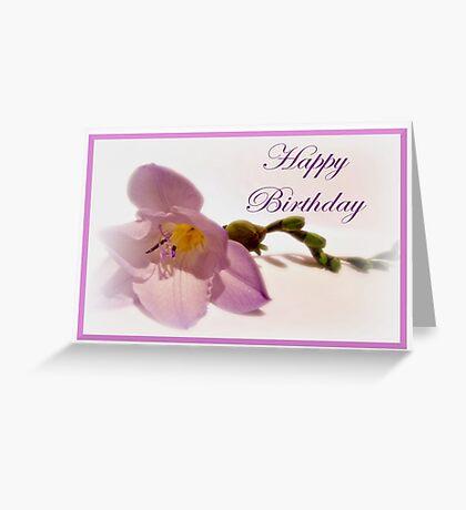 Freesia Card Greeting Card