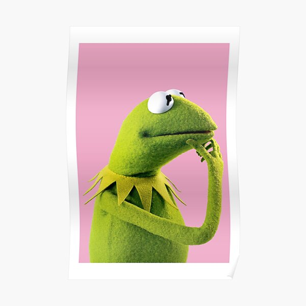 Pondering Kermit Poster