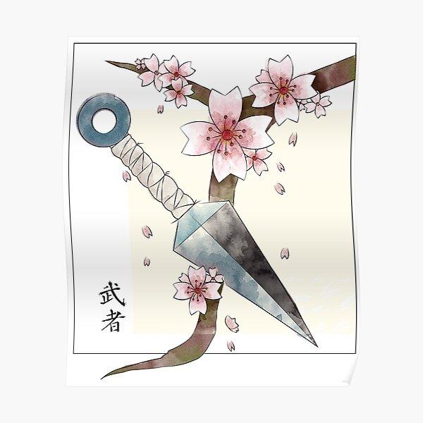 Kunai et Sakura Poster