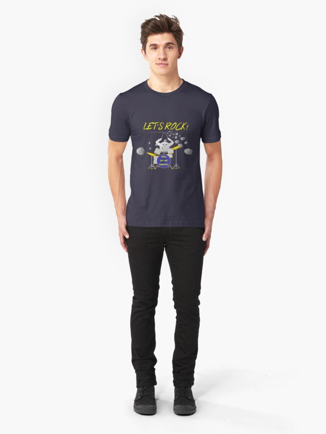 Alternate view of Let's rock with Ceres and the asteroids Slim Fit T-Shirt