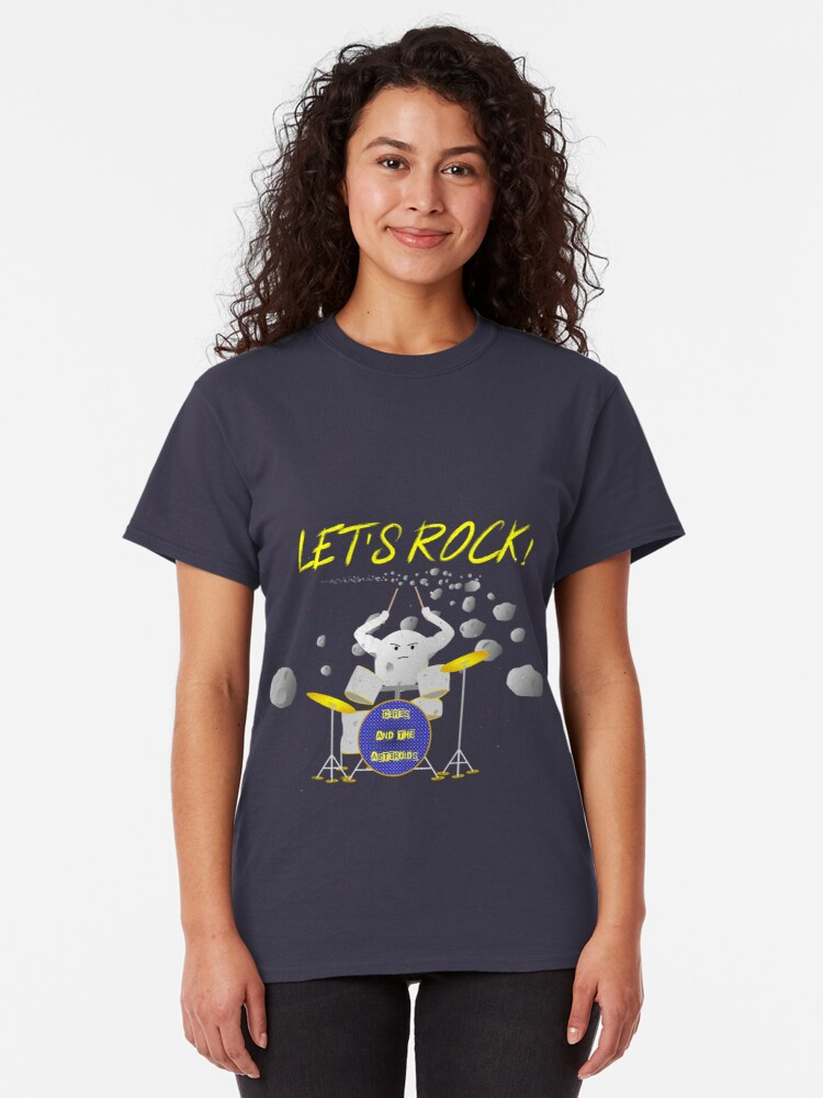 Alternate view of Let's rock with Ceres and the asteroids Classic T-Shirt