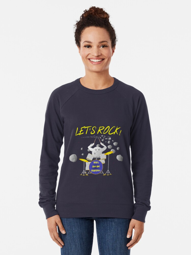 Alternate view of Let's rock with Ceres and the asteroids Lightweight Sweatshirt