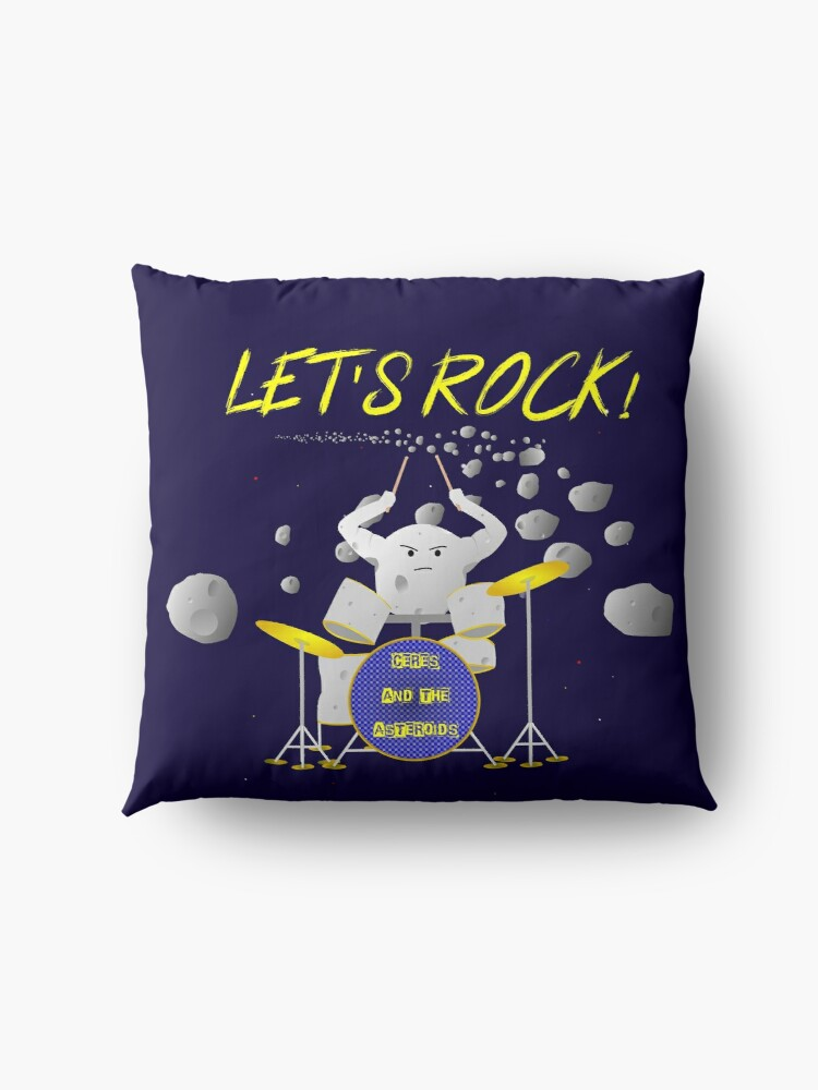 Alternate view of Let's rock with Ceres and the asteroids Floor Pillow