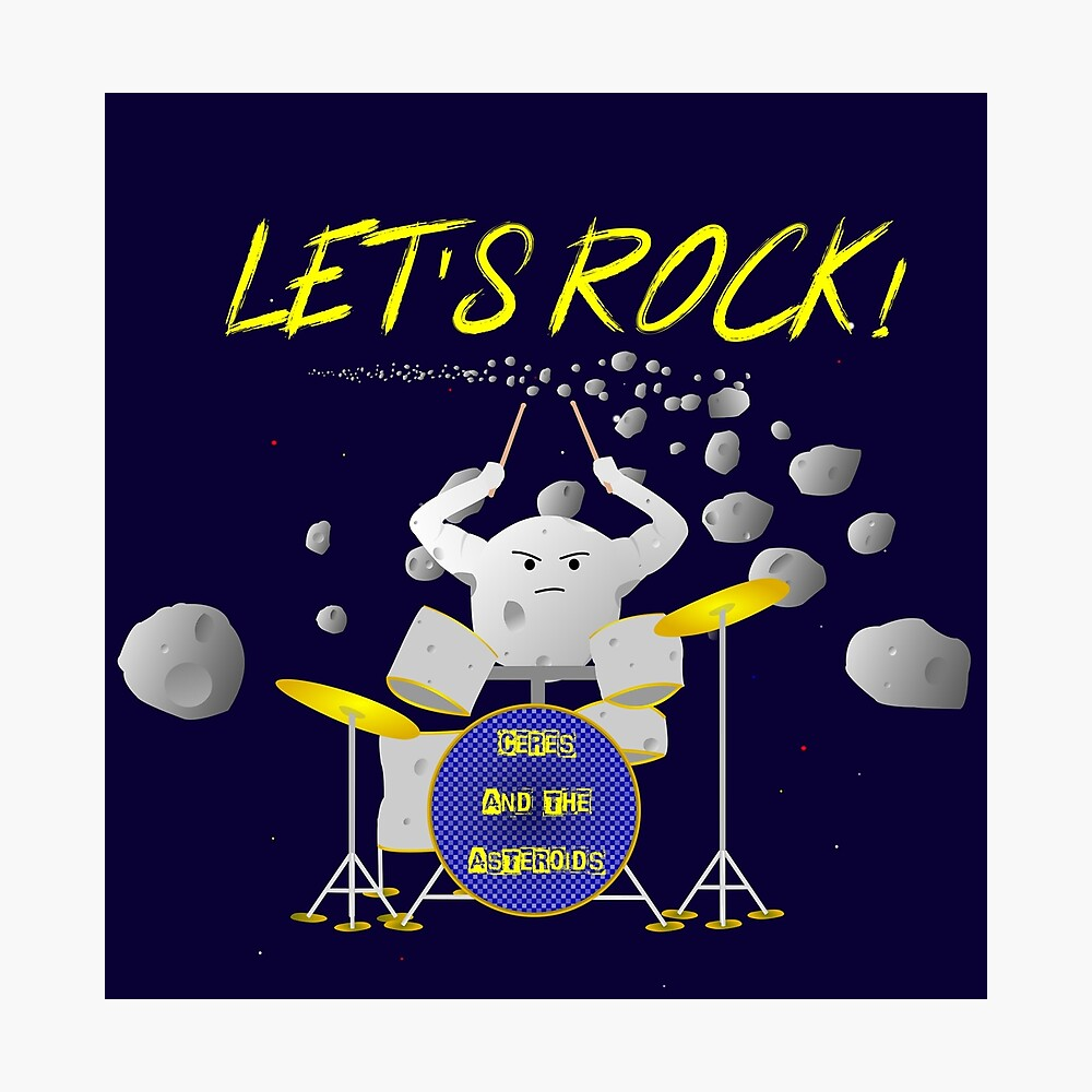 Let's rock with Ceres and the asteroids Photographic Print