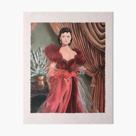 Mrs Scarlett O'Hara-Butler interprétée par Vivien Leigh Impression rigide