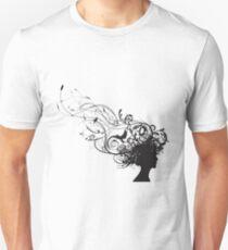 girl face design Unisex T-Shirt