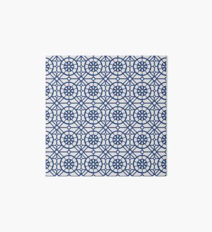 Azul Tiles (Blue on White) Art Board Print