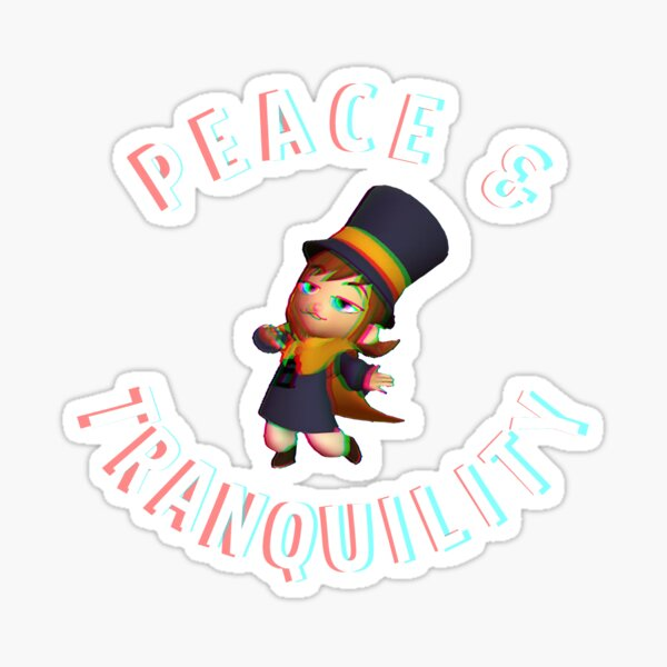 A Hat in Time Peace & Tranquility Sticker