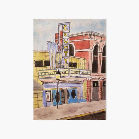 Doylestown theater painting Art Board Print
