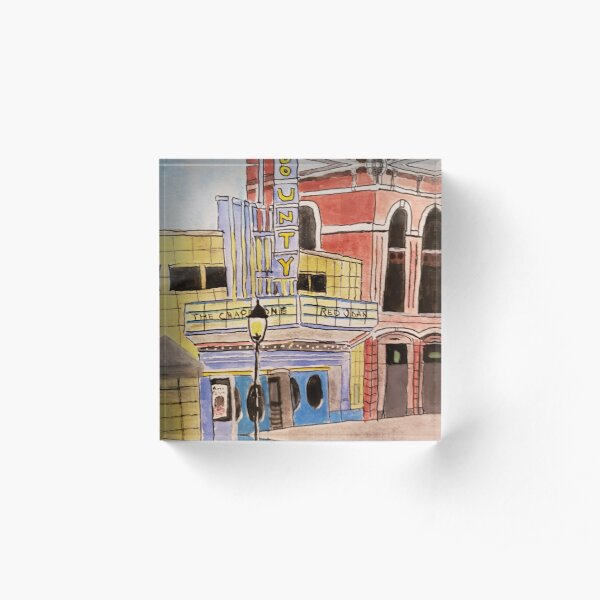 Doylestown theater painting Acrylic Block