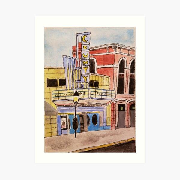 Doylestown theater painting Art Print