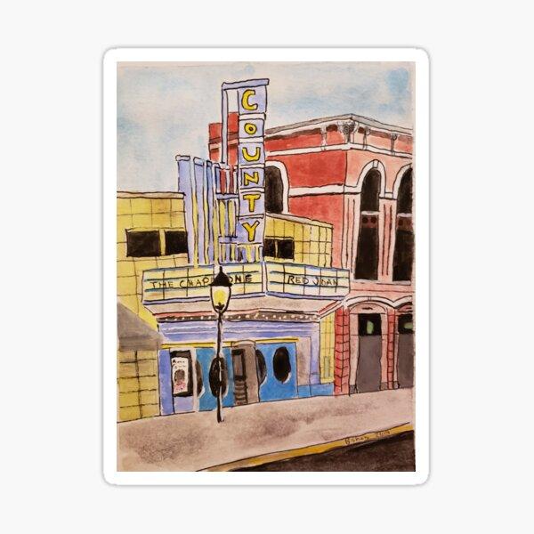 Doylestown theater painting Sticker