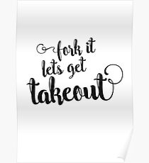 Fork it - lets get takeout Poster