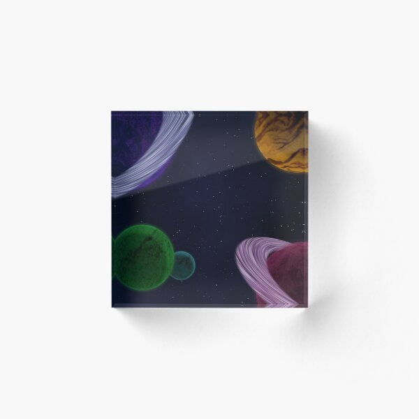 Outer Space Acrylic Block