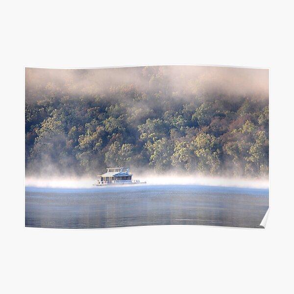Hawkesbury River House Boat - NSW Australia Poster