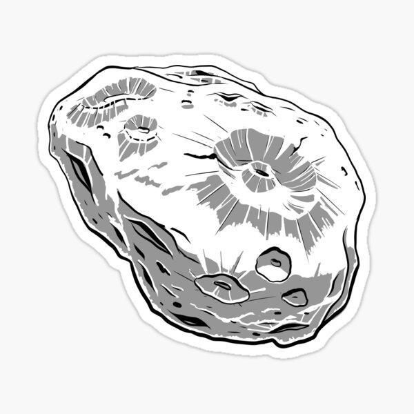 Asteroid Day Art Sticker