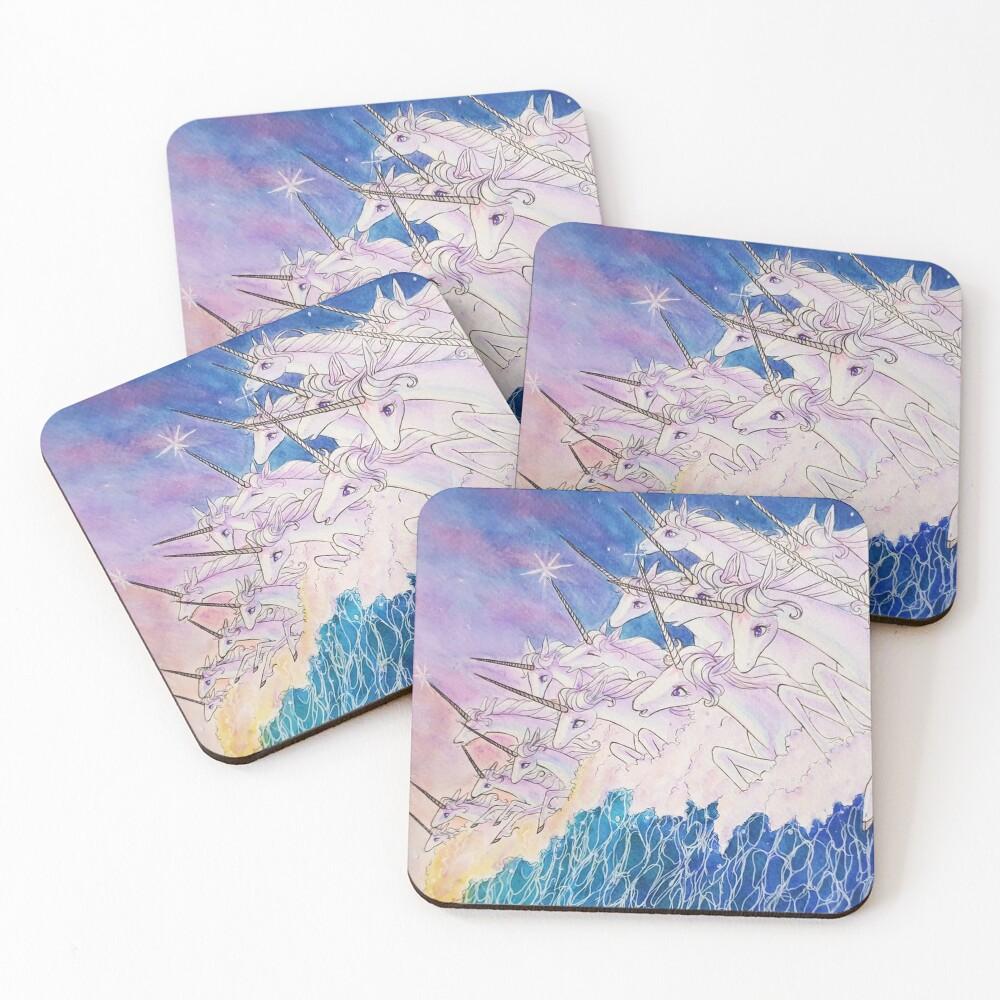 Unicorns in the sea Coasters (Set of 4)