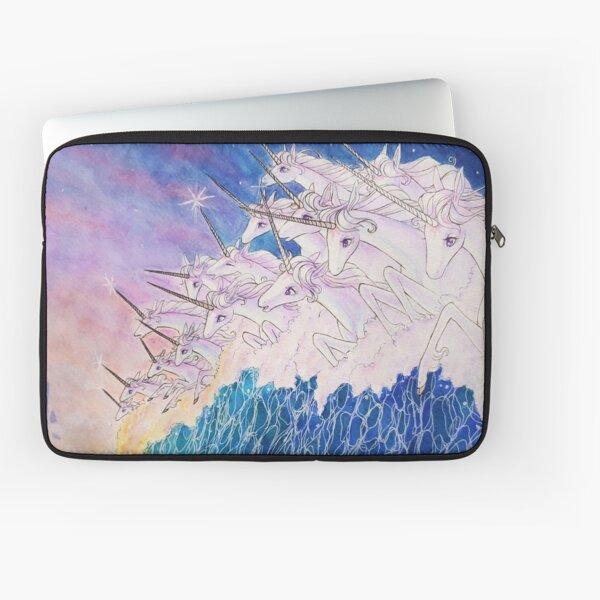 Unicorns in the sea Laptop Sleeve