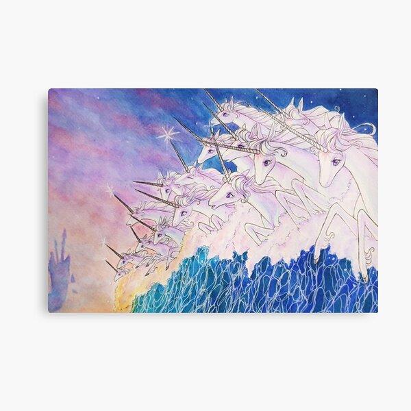 Unicorns in the sea Canvas Print