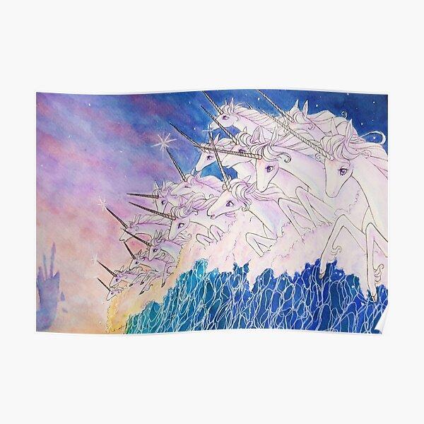 Unicorns in the sea Poster
