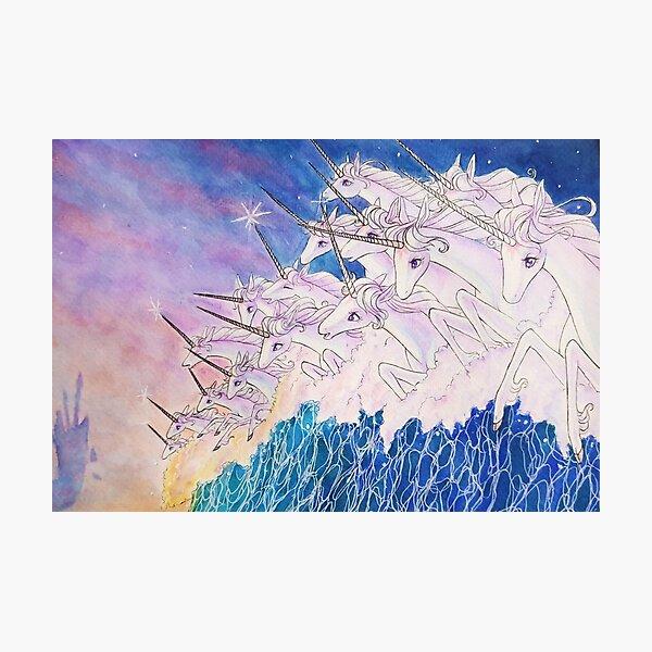 Unicorns in the sea Photographic Print