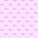 Love, pattern, Light Pink, Kids Room, baby colors, by Alma-Studio