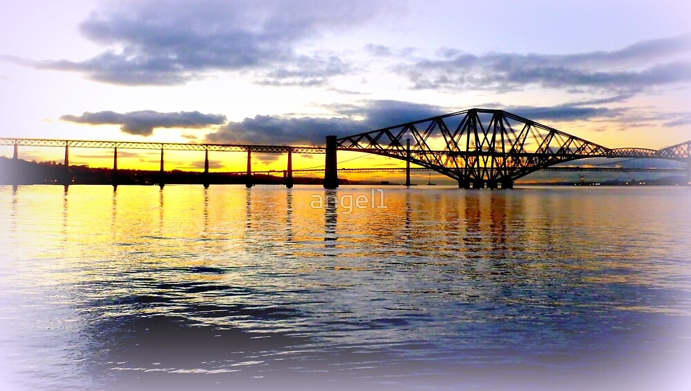 Forth Rail Bridge Sunset by ©The Creative  Minds