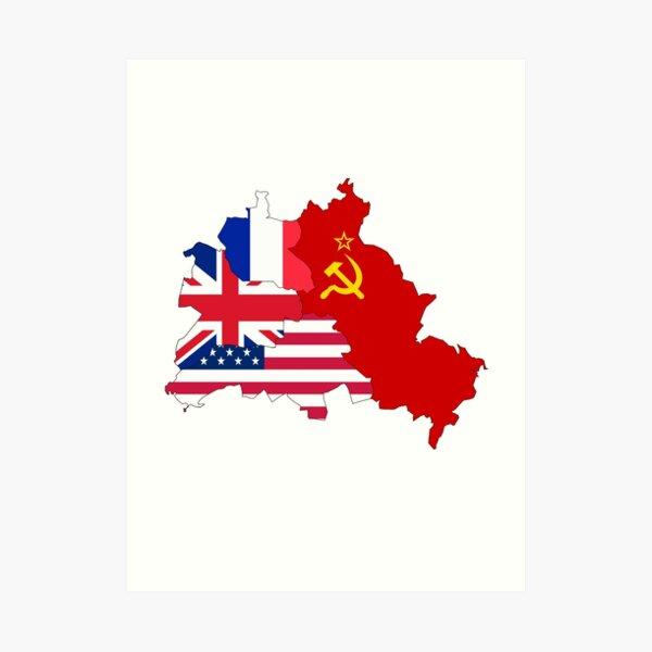 berlin east west flag Art Print