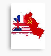 berlin east west flag Canvas Print