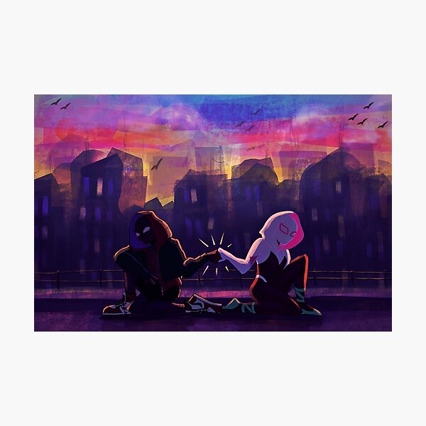 Spiderverse Buds  Photographic Print