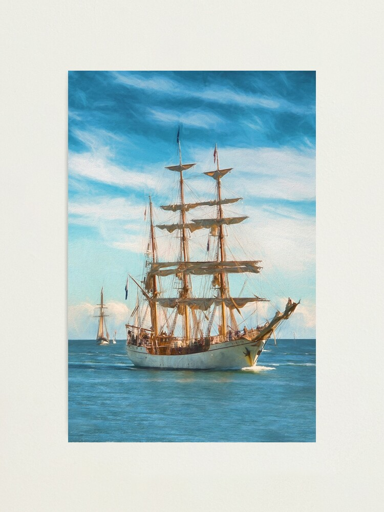 Alternate view of Sailing Grace (digital painting) Photographic Print