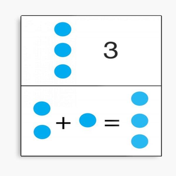 Math, 2+1=3 First grade math skills set foundation for later math ability Metal Print