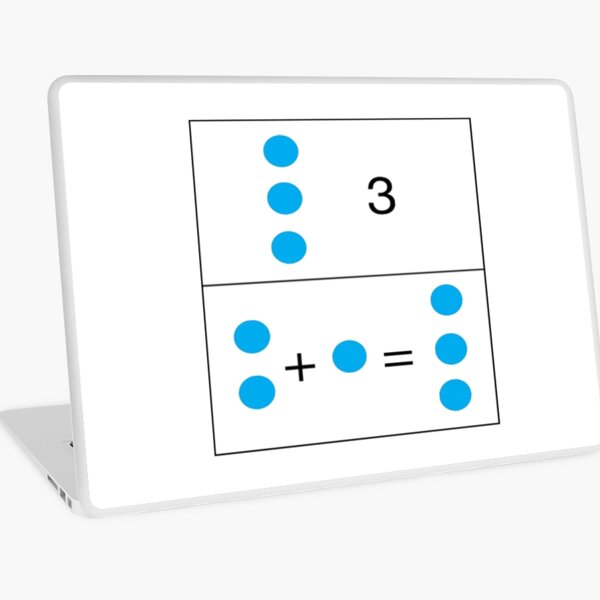 2+1=3 First grade math skills set foundation for later math ability Laptop Skin