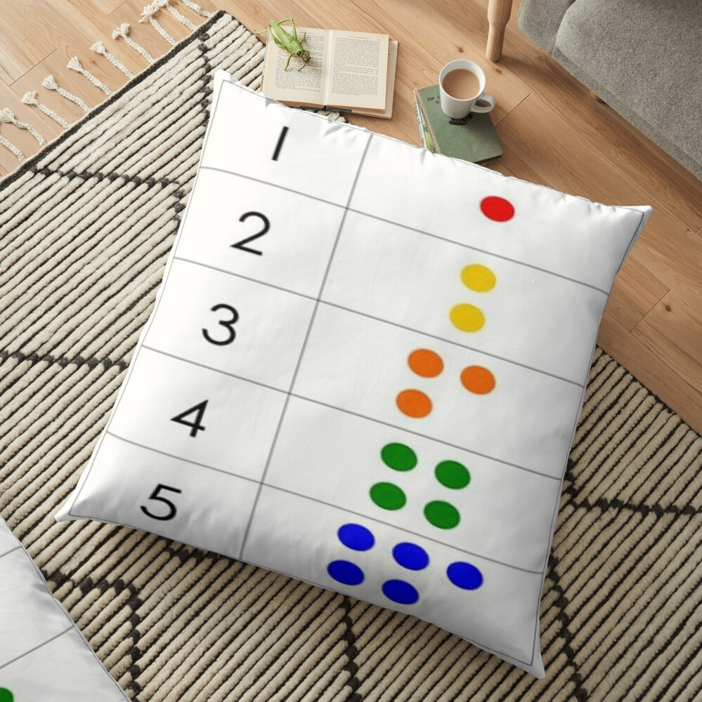 First grade math skills set foundation for later math ability Floor Pillow